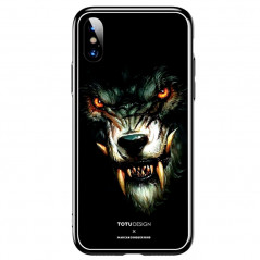 Coque rigide TOTUDesign Vitros Animals Series Apple iPhone X/Xs Loup