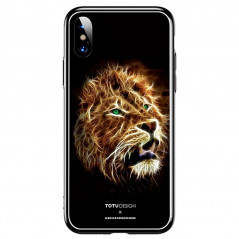 Coque rigide TOTUDesign Vitros Animals Series Apple iPhone X Lion