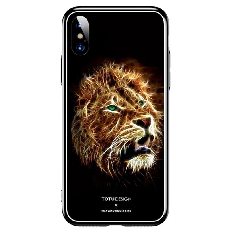 Coque rigide TOTUDesign Vitros Animals Series Apple iPhone X Lion