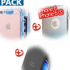 Pack Coque Apple iPhone 6/6S (Calling / Pailletée / Métalisée)