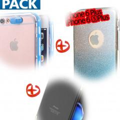 Pack Coque Apple iPhone 6/6S Plus (Calling / Pailletée / Métalisée)