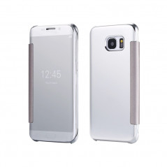Etui folio Mirror Clear View Samsung Galaxy S6 Edge Bleu