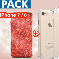Pack Coque Apple iPhone 7/8 (Ice Cracking , Clear)