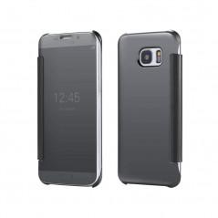Etui folio Mirror Clear View Samsung Galaxy S6 Edge Bleu