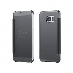 Etui folio Mirror Clear View Samsung Galaxy S6 Edge Plus Or