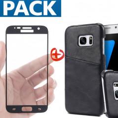 Pack Coque Vintage + Protection écran Samsung Galaxy S7