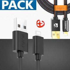 Pack Câble Lightning 2mt + 1mt