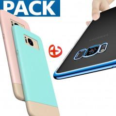 Pack Coque Creative Serie + Coque 3D Plating Samsung Galaxy S8 Plus