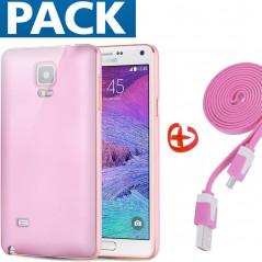 Pack Coque aluminium + câble microUSB Samsung Galaxy Note 4