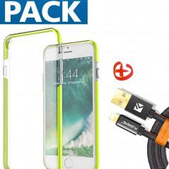 Pack Coque FLOVEME Hybride + Câble Lightning Apple iPhone 7/8