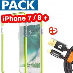 Pack Coque FLOVEME Hybride + Câble Lightning Apple iPhone 7/8 Plus