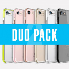 DuoPack Coque FLOVEME Hybride avec contour renforcés Apple iPhone 7/8