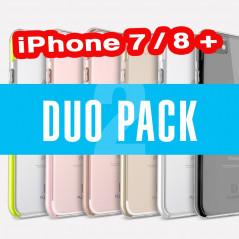DuoPack Coque FLOVEME Hybride avec contour renforcés Apple iPhone 7/8 Plus