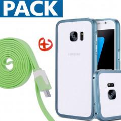 Pack Coque aluminium + câble microUSB Samsung Galaxy S7
