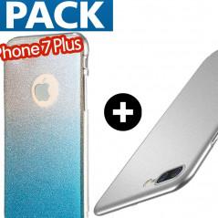 Pack Coque ultra pailletée + Coque Frosty Series Apple iPhone 7/8 Plus