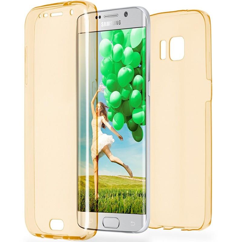 Coque Gel 360° Protection Samsung Galaxy S6 Edge Jaune