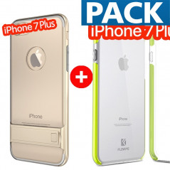 Pack Coque bimatière transparente + Coque FLOVEME Hybride Apple iPhone 7/8 Plus