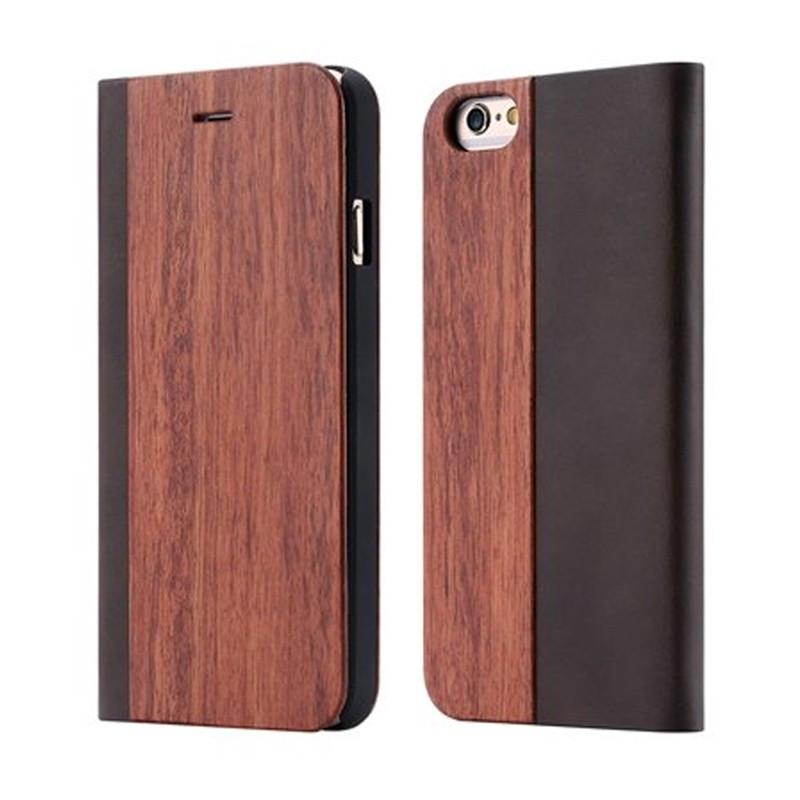 Etui folio Natural Wood Apple iPhone 6/6S Plus Bois de Rose