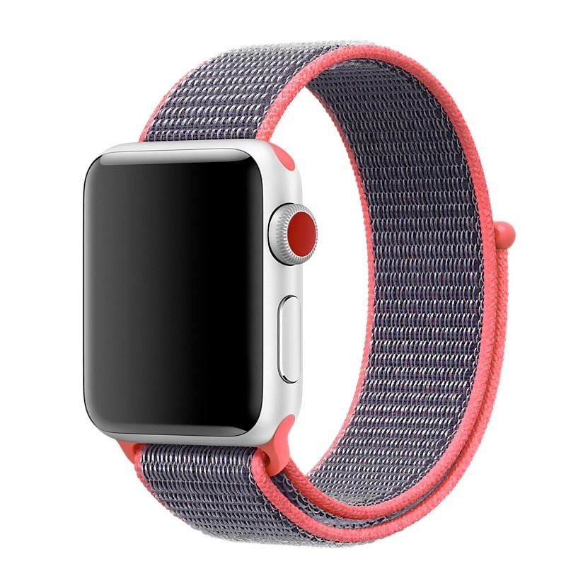Boucle sport nylon tissé Apple Watch 1/2/3/4 (42/44mm) Rose