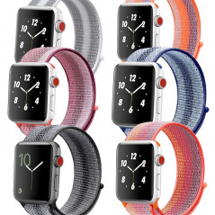 Boucle sport nylon tissé Colorful Apple Watch 1/2/3/4/5 (42/44mm)