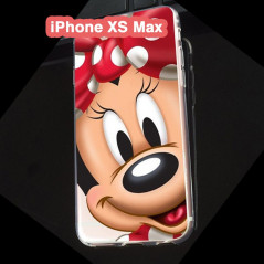Coque silicone gel Minnie Mouse Apple iPhone XS Max