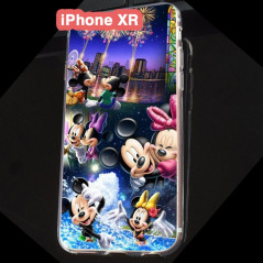 Coque silicone gel Mickey & Minnie Party Apple iPhone XR