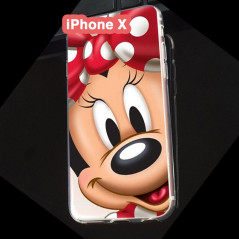 Coque silicone gel Minnie Mouse Apple iPhone X