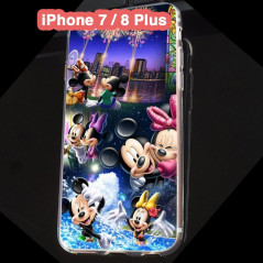 Coque silicone gel Mickey & Minnie Party Apple iPhone 7/8 Plus