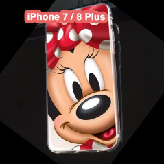 Coque silicone gel Minnie Mouse Apple iPhone 7/8 Plus