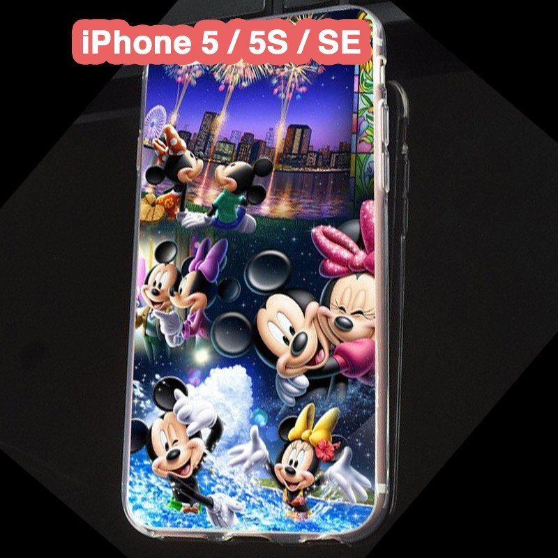 Coque silicone gel Mickey & Minnie Party Apple iPhone 5/5S/SE
