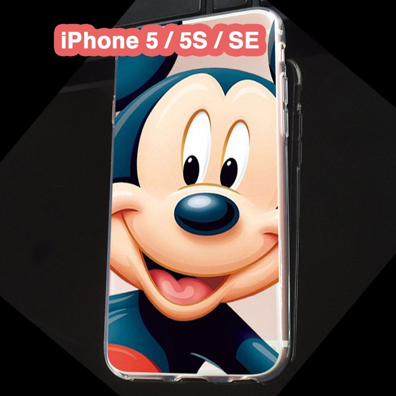 Coque silicone gel Mickey Mouse Apple iPhone 5/5S/SE