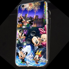 Coque silicone gel Mickey & Minnie Party Apple iPhone 6/6S Plus