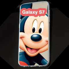 Coque silicone gel Mickey Mouse Samsung Galaxy S7