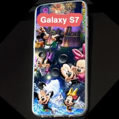 Coque silicone gel Mickey & Minnie Party Samsung Galaxy S7