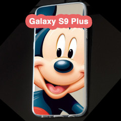 Coque silicone gel Mickey Mouse Samsung Galaxy S9 Plus