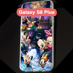 Coque silicone gel Mickey & Minnie Party Samsung Galaxy S8 Plus