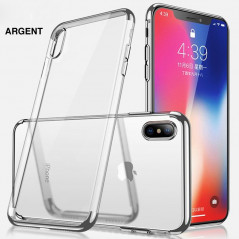Coque silicone gel CAFELE 3D Plating contours métallisé Apple iPhone Xs