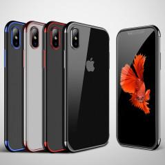 Coque silicone gel CAFELE 3D Plating contours métallisé Apple iPhone Xs MAX