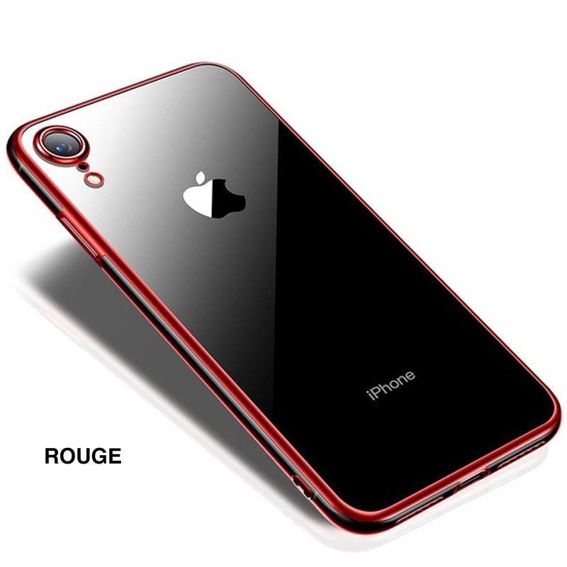 Coque silicone gel CAFELE 3D EDGE Plating contours métallisés Apple iPhone XR