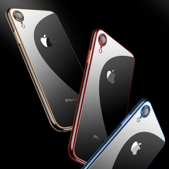 Coque silicone gel CAFELE 3D EDGE Plating contours métallisés Apple iPhone XR