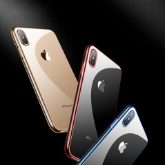Coque silicone gel CAFELE 3D EDGE Plating contours métallisés Apple iPhone XS