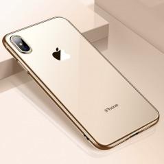 Coque silicone gel CAFELE 3D EDGE Plating contours métallisés Apple iPhone XS MAX