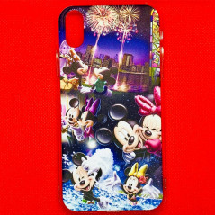 Coque silicone gel Mickey & Minnie Party Apple iPhone XS Max