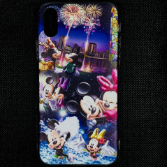 Coque silicone gel Mickey & Minnie Party Apple iPhone XS