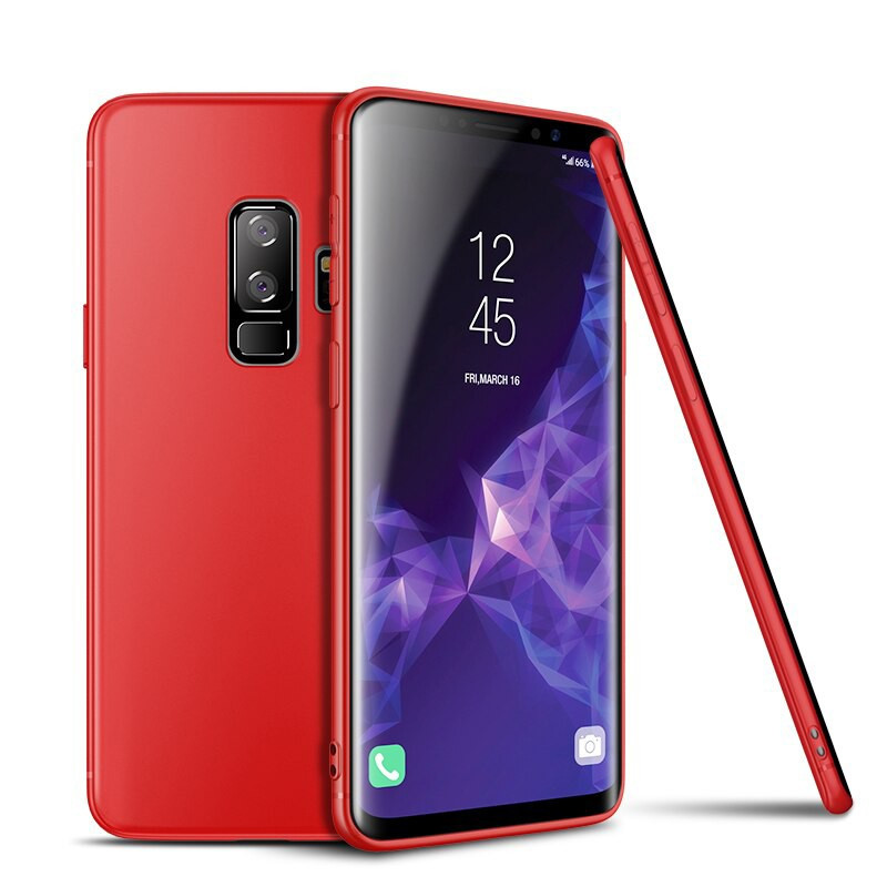 Coque silicone gel CAFELE AIR SKIN Series Samsung Galaxy S9 Plus Rouge