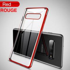 Coque silicone gel CAFELE 3D EDGE Plating contours métallisés Samsung Galaxy S10+