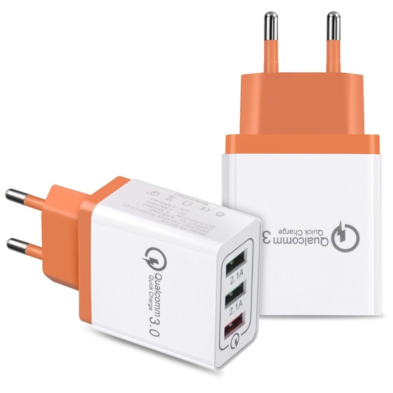 Chargeur secteur CAFELE AR-QC-03 Quick Charge Qualcomm 3.0 Orange