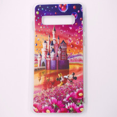 Coque silicone gel Mickey & Minnie Bubble Samsung Galaxy S10 Plus
