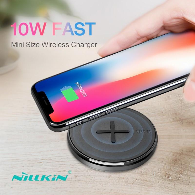 Chargeur rapide sans fil à induction QI NILLKIN BUTTON 10W