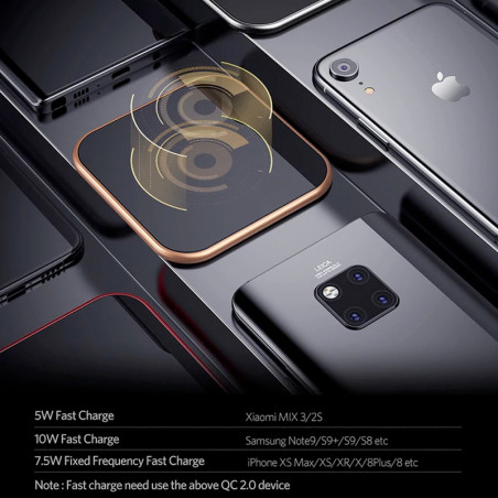 Chargeur rapide sans fil à induction QI BENKS W05 CUBE Series 10W